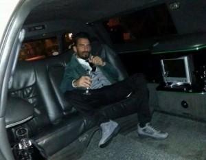Domenico Palazzotto en limousine