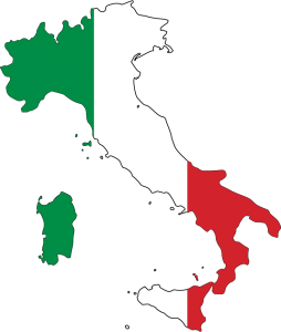 italie carte drapeau