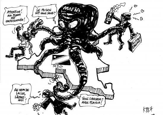 Carricature mafia pieuvre