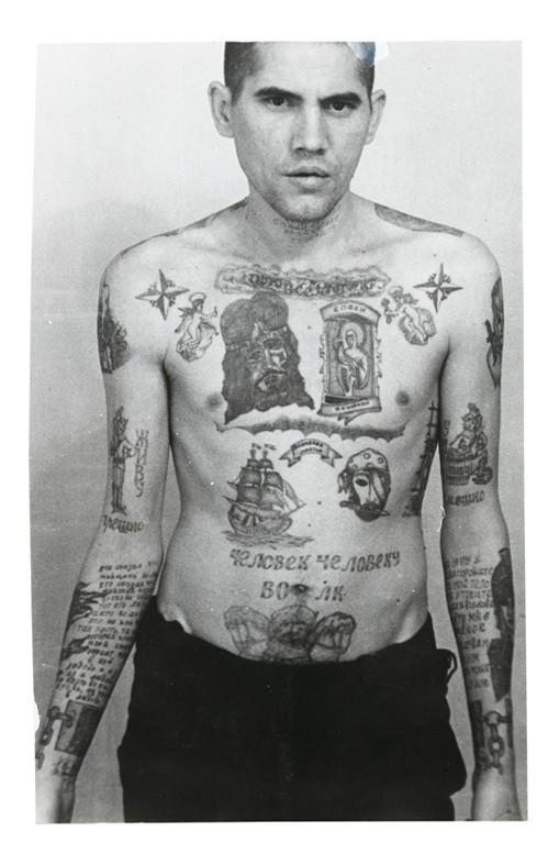 Tatouage étoile prisonniers russes