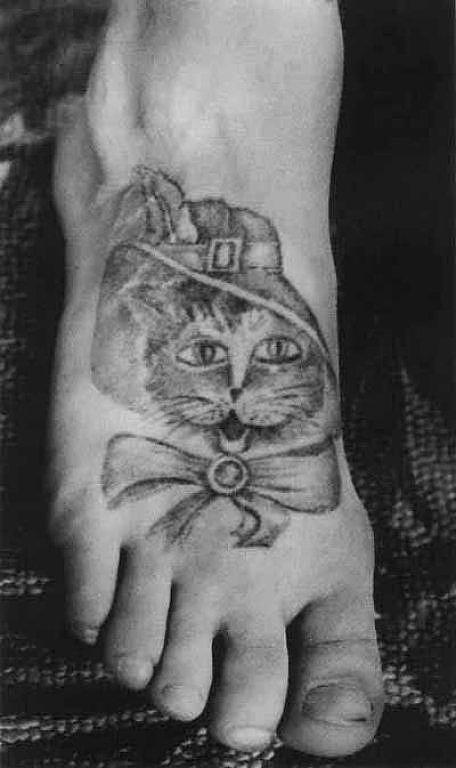 Tatouage chat prisonniers russes