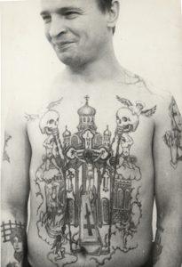 Tatouage clochers prisonniers russes
